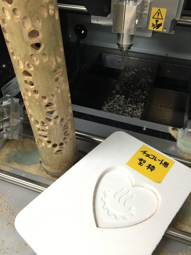 竹灯籠とチョコレート型